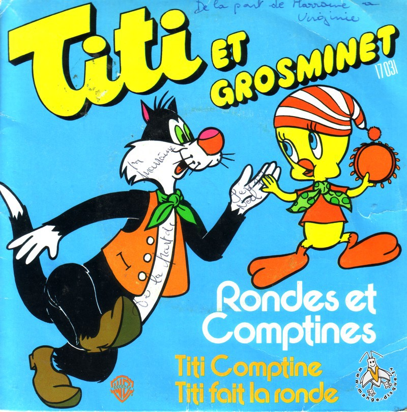Tv Series And Cartoons Records Titi Et Grosminet Rondes Et