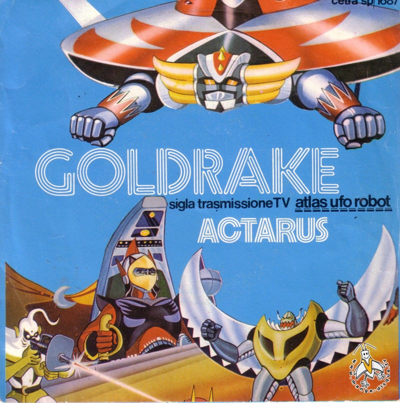 Tv Series And Cartoons Records Goldrake Sigla Transmissione Tv