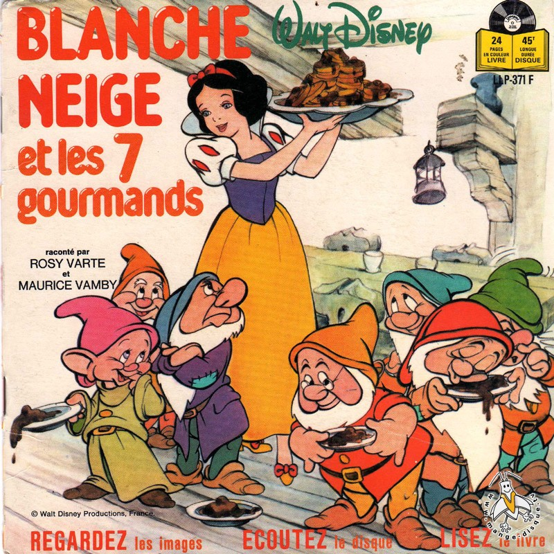 Tv Series And Cartoons Records Blanche Neige Et Les 7 Gourmands