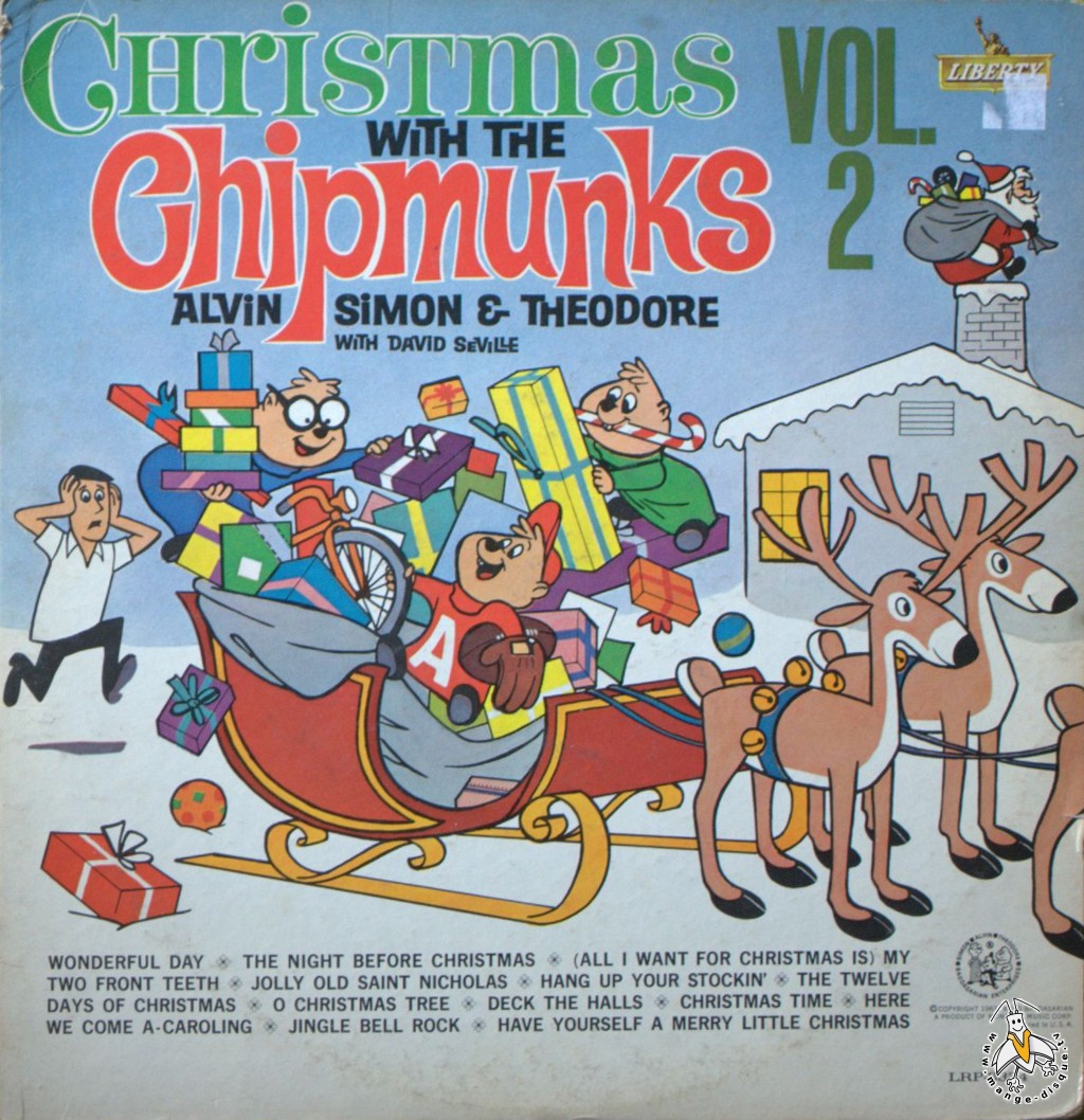 Alvin And The Chipmunks Christmas.Tv Series And Cartoons Records Christmas With The Chipmunks