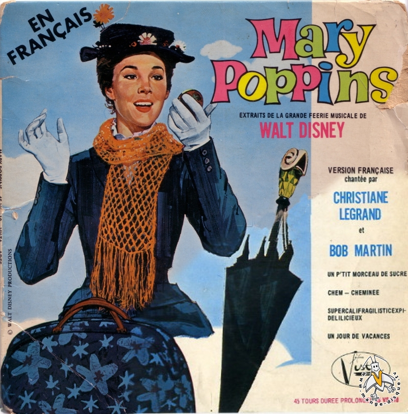 Tv Series And Cartoons Records En Fran 231 Ais Mary Poppins
