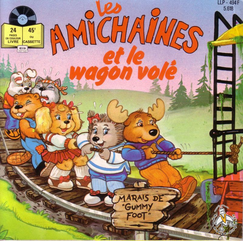Tv Series And Cartoons Records Les Amichaines Et Le Wagon Vole